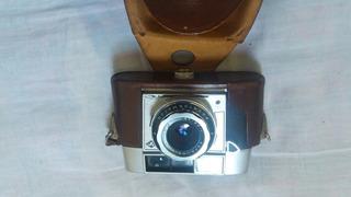 Câmera Fotográfica Antiga Agfa Optima Ll Capa De Couro Rara