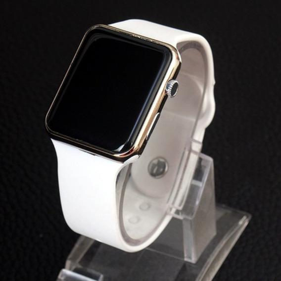 Relógio Digital Para Homens De Led Com Pulseira De Silicone.