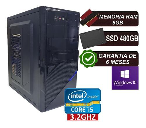 Imagem 1 de 5 de Pc Computador Cpu Intel Core I5 Ssd 480gb / 8gb Memória Ram