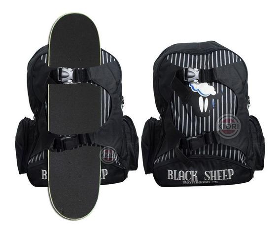 Mochila Para Skate Bag Black Sheep E Escolar Casual