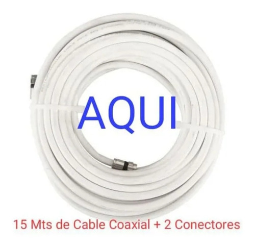 Cable Coaxial Rg6 - 15mts + 2 Conectores Rg6