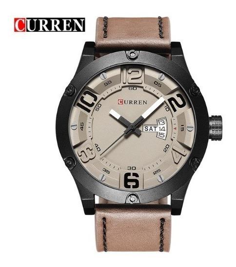 Relógio De Pulso Curren 8225 Bege Original Importado - Frete Grátis