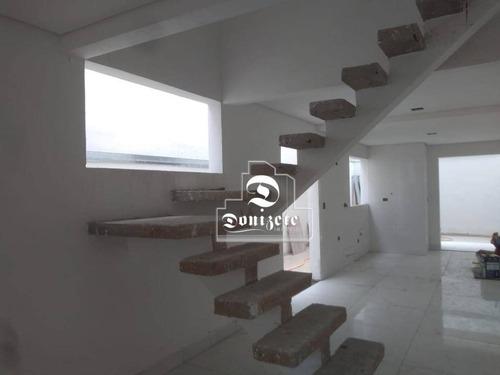 Sobrado No Bairro Vila Scarpelli Em Santo André, Com 3 Dormitórios À Venda, 156 M² Por R$ 750.000  - Novo - So3632