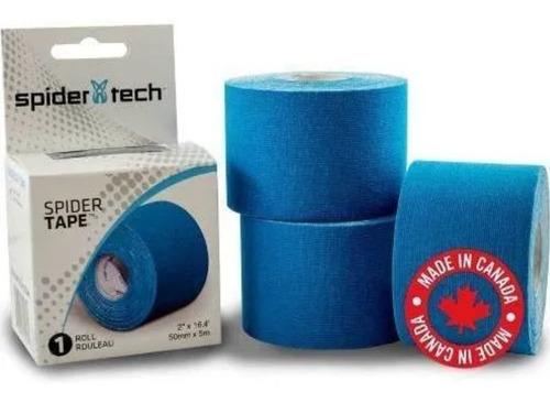 Imagen 1 de 5 de Spider Tech Cinta Kinesio Tapping Tape 50mm X 5m Vs Colores
