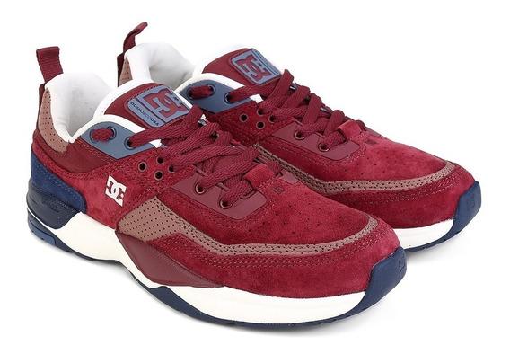 Tênis Dc Shoes E Tribeka Se Vinho/couro Promoção Imperdível