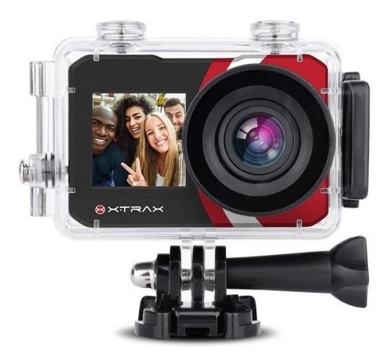 Câmera De Ação Xtrax Selfie 16mp 4k Com 20 Acessórios