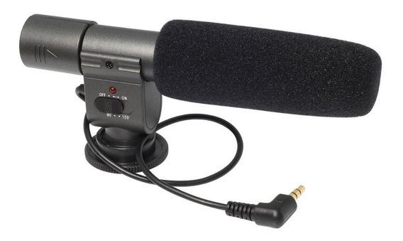 Microfone Shenggu Sg 108 Stereo Para Canon Nikon Sony Dslr