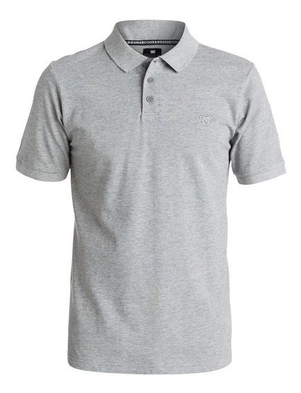 Camisa Polo Gris Manga Corta Holborn Hombre Dc Shoes