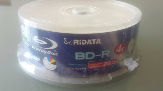 Blu Ray Disc Bd-r Ridata 4x 25gb