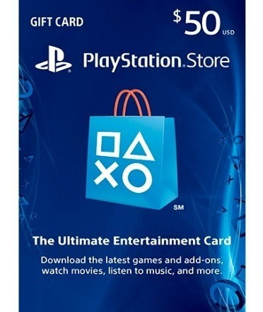 Card Psn 50 $ Dólares Cartão Playstation Network Ps4 Ps3