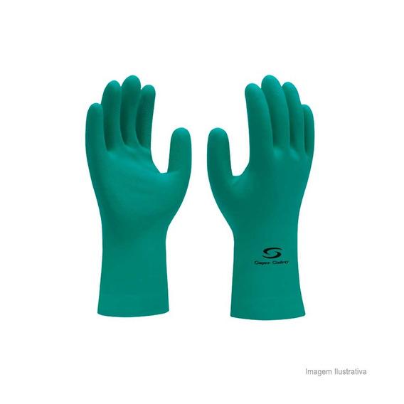 Luva Nitrílica Super Nitrogreen Tamanho 9 Ca 33334 Verde Sup