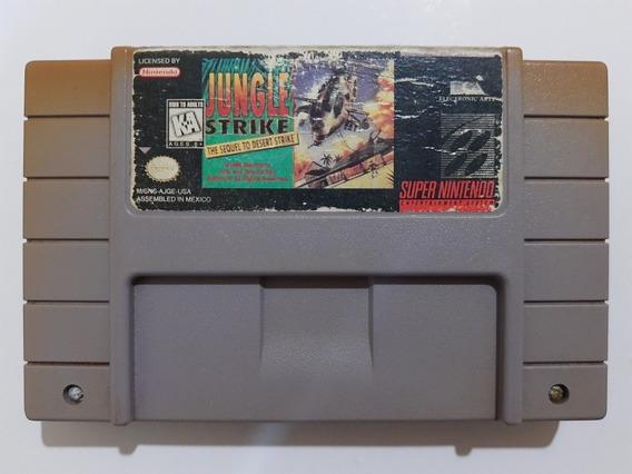 Super Nes: Jungle Strike Sequel To Desert Strike Original!!