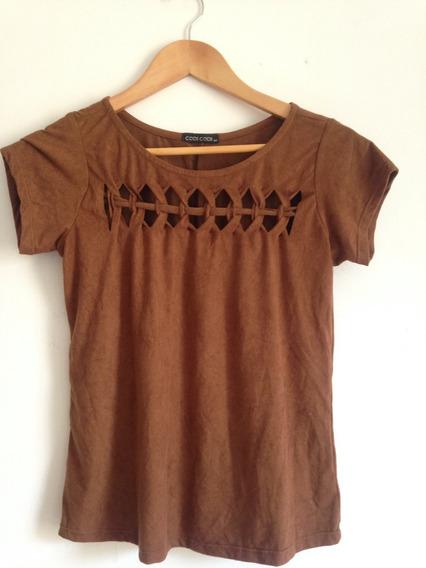 Camiseta Feminina Marrom Tamanho P
