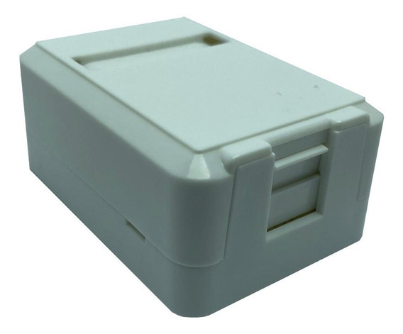 Caixa Superficie Com 01 Saida Para Rj45 Surface Kit C/10pçs