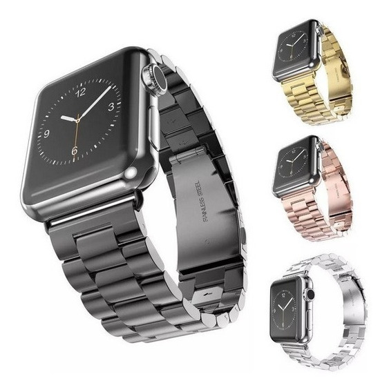 Correa Para Apple Watch Eslabones Acero Inoxidable Serie 1-5