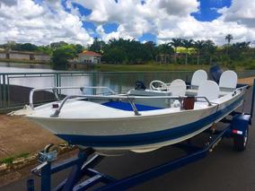 Barco Lancha Aluminio Comando A Distancia 40 Hp