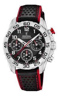 Reloj Festina Hombre F20458.3 Crono Malla Cuero Negro