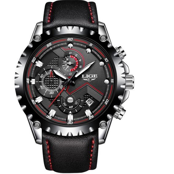 Relógio Lige Masculino Original Lg9821 Preto Todo Funcional