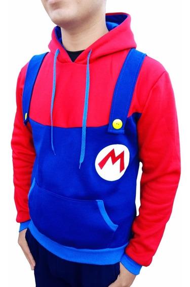 Mario Bros Sudadera Chamarra De Moda Gamers