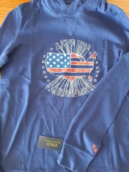 Camisa Com Capuz Polo Ralph Lauren Original