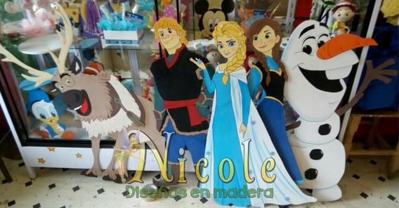 Figuras De Frozen 1 Metro Para Fiestas En Madera Mdf De 3mm