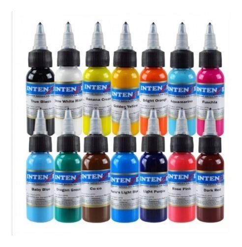 Tinta Para Tatuar Intenze 1 Oz Sellada Tattoo Ink