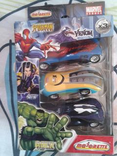 Autos Spiderman - X-men - Venom - Pack X 3 - Original Marvel