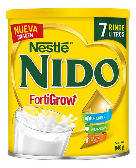 Leche Nido Clasica Lata 840gr Para Bebe Niño Y Niña (1pz)