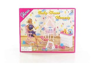 Juego Cuarto Bebé Casa Muñecas Tamaño Barbie Original