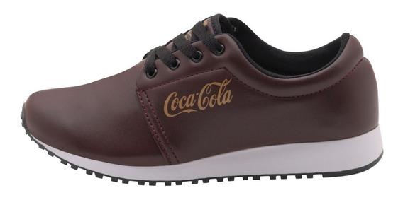 Tenis Coca Cola Feminino Caminhada Academia Corrida 34 Ao 39