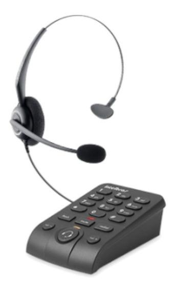 Telefone Headset (secretária) Intelbras Hsb50 Preto