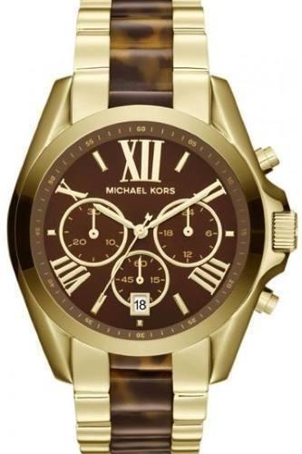 Relógio Michael Kors Mk5696 Bradshaw Dourado Original