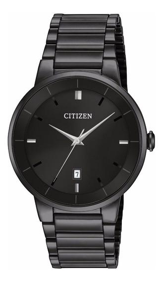 Reloj Citizen De Caballero Bi5017-50e Acero Negro Brillante