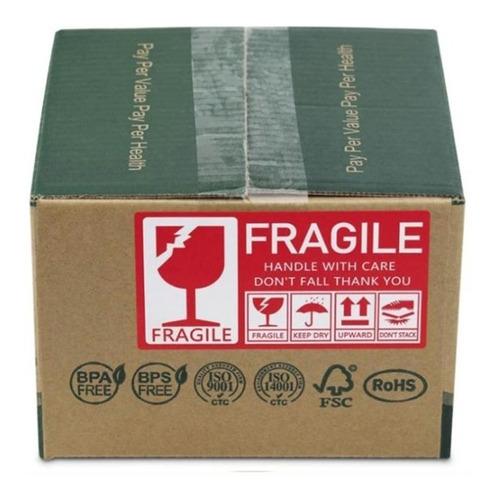 100 Stickers Para Paquetes Con Mercancía Delicada Fragile