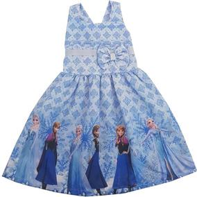 Vestido Infantil Fronzen