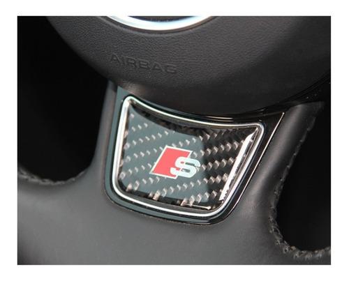 Emblema Audi Sline Volante Carbon A1 A3 A4 A5 A6 Q1 Q5 Q3