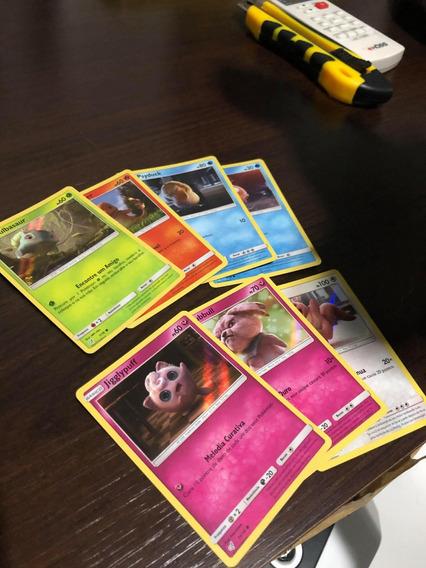 Lote De 7 Cartas Comuns Detetive Pikachu