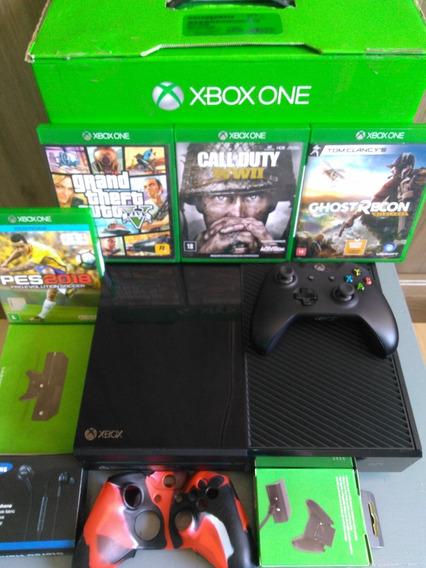 Xbox One 1tb Controles + 3 Bons Jogos + Brinde Barato!