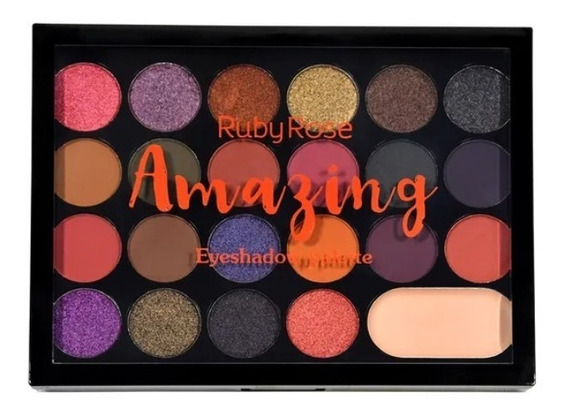 Paleta De Sombras Amazing, Diva E Outras Ruby Rose Hb1004