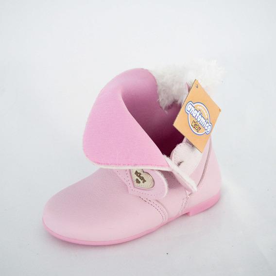 Bota Kidy 154-0136 Soft Rosa Bebê 100% Original