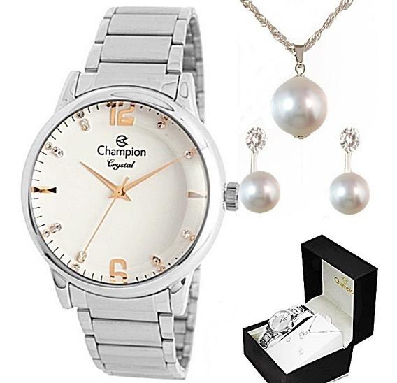 Relógio Champion Crystal Feminino Cn25529y Original C/ Nfe