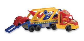 Camion Grande De Transporte Con 2 Autos Mide 82 Cm Duravit