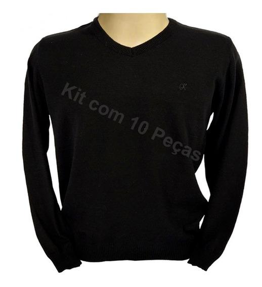 Suéter Blusa De Tricô Casaco Frio Inverno Atacado Kit10