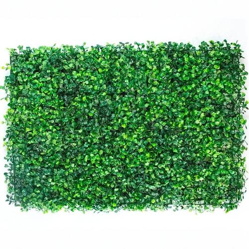Imagen 1 de 8 de Muro Verde Follaje 10 Pzas Artificial Sintentico 60x40 Cm