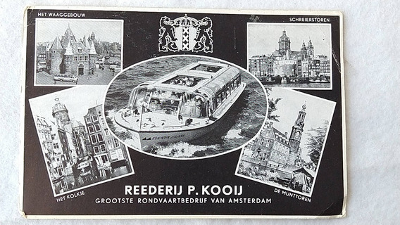 Postal Holanda Amsterdam Publicidad Crucero Nautica #14