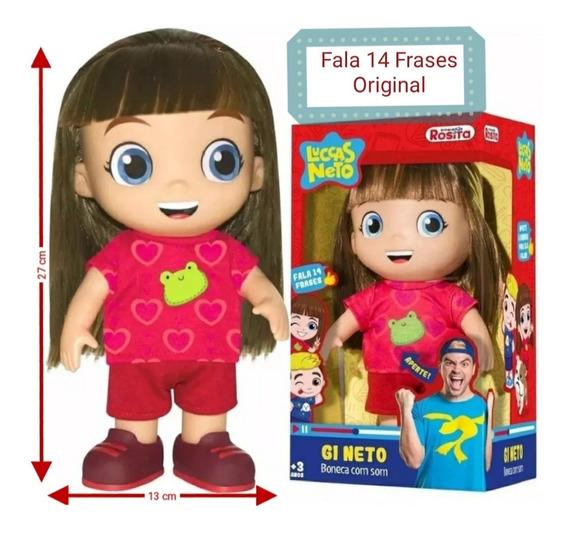 Boneca Gi Neto Original Fala 14 Frases Rosita