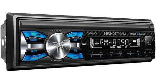 Imagen 1 de 5 de Autoestèreo Con Bluetooth Soundstream 23b Iliminación Usb Sd