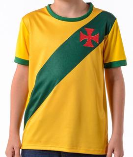 Camisa Brasil Vasco Da Gama Braziline Infantil Original + Nf
