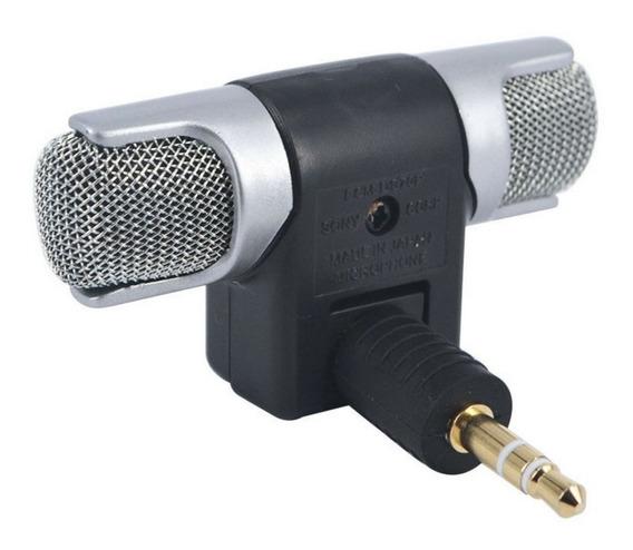 Microfone Mini Stéreo P2 Para Notebook E Câmera Digital