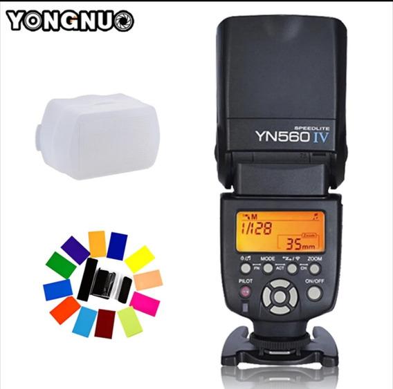 Flash Yongnuo Yn-560 Iv Universal Sem Fio Canon Nikon